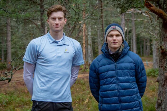 <b>NTNUI DISKGOLF: </b>Thomas Stavnem (t.v) og Johannes Sjursen (t.h) vil skape en sosial arena for frisbeeinteresserte studenter.