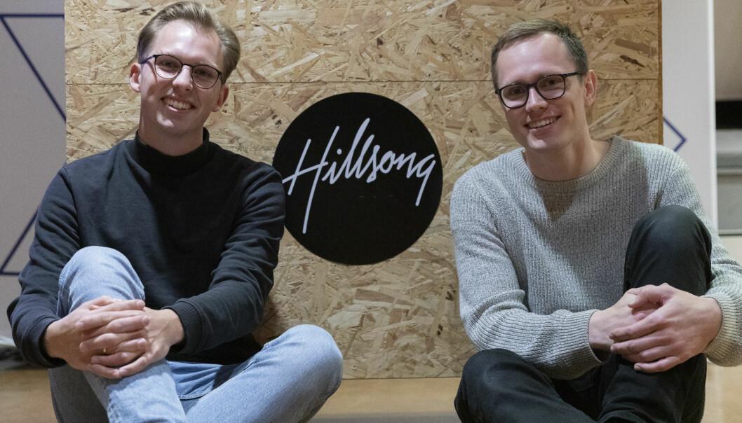 <b>FRIVILLIGE: </b>Thomas Hagby Dahl og Anders Solberg jobbar frivillig i Hillsong-kyrkja på sida av studiene.