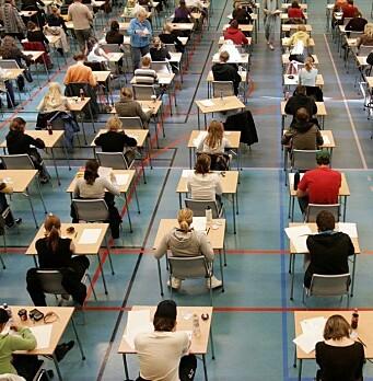 <b>To meters avstand</b>: fysisk eksamen i 2020 vil være annerledes enn tidligere år.