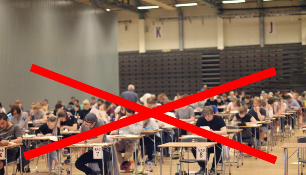 <b>BLI HJEMME:</b> Heller ikke dette semesteret ble det skoleeksamen ved NTNU, mange mener at informasjonen kom for sent.