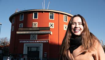 <b>VELDIG FORNØYD: </b>Leder ved Studentersamfundet Karen Mjør håper bevilgningene fra Velferdstinget sender et tydelig signal.<b> </b>
