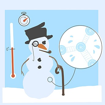 <b>FINKORNET:</b> Det er enklest å bygge en snømann når man har litt fuktig og finkornet snø.
