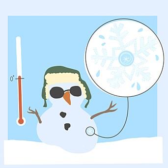 <b>SOLID:</b> Grovkornet snø har allerede blitt utsatt for varme, og er dermed bedre rustet mot å bli varmet opp igjen.