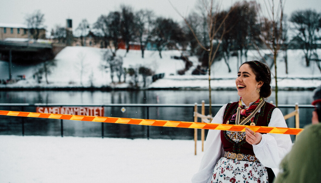 <strong>ET SAMFUNDAMENT:</strong> Fyllinga i Nidelva er helt nødvendig for å realisere drømmen om et nybygg bak fengselstomta. Leder ved Studentersamfundet Karen Mjør åpnet fyllinga tidligere i januar.