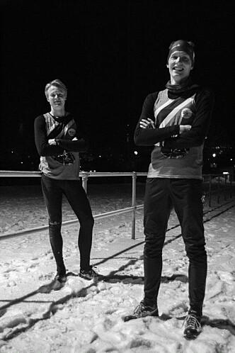 <strong>FULL</strong> <strong>FART:</strong> Emil og Rasmus kan styrte en øl på seks sekunder.