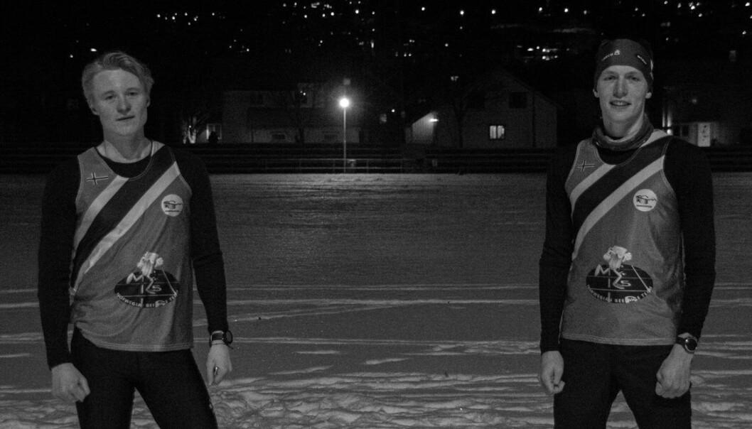 <strong>VERDENSELITEN: </strong>Emil Granqvist (t.v) og Rasmus Rørholt Theisen (t.h) er to av verdens beste beer mile-utøvere.