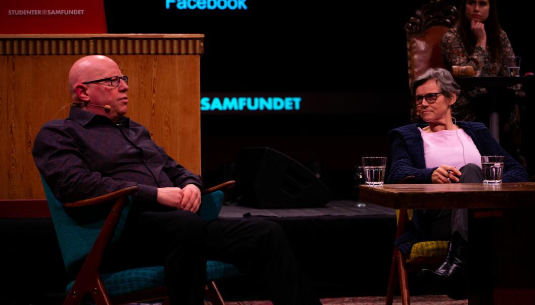 <strong>Samfundsmøte: </strong>Tom Ketil Krogstad og Agnes Bolsø var to av innlederne til møtet