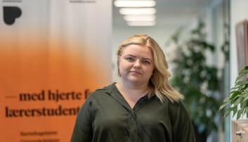 <strong>KRITISK: </strong>Leder av Pedagogikkstudentene Elise Håkull Klungtveit er kritisk til regjeringens «mattefirer» som krav for å komme inn på lærerutdanninga.