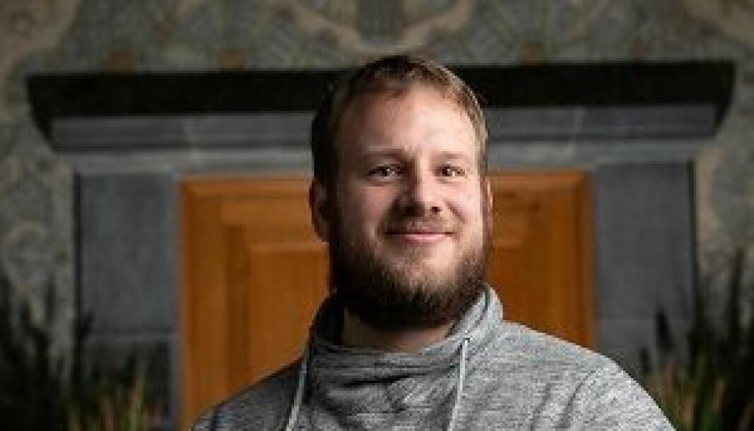 TAKKNEMLIG: Simen Tjølsen Oftedahl skal representere studentene det neste året.