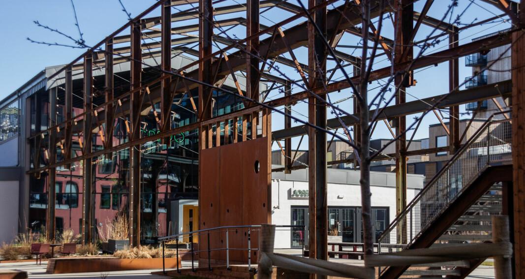 LILLEBY: Etter flere år med bygging begynner den nye bydelen å ta form.