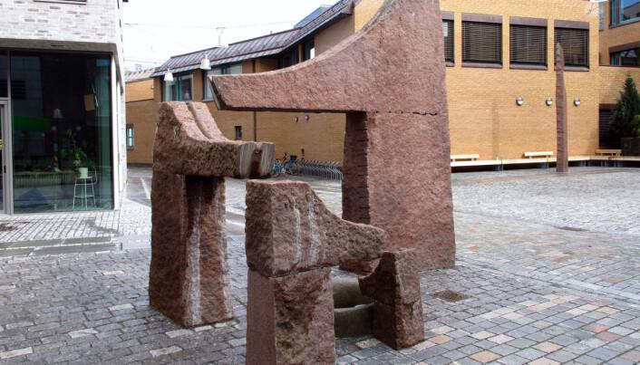 Bård Breiviks granittfontene (1995) på Peter Egges plass.