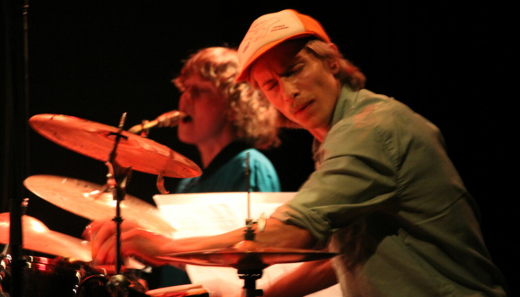 Trommis Hans Hulbækmo og saksofonist Mette Rasmussen.