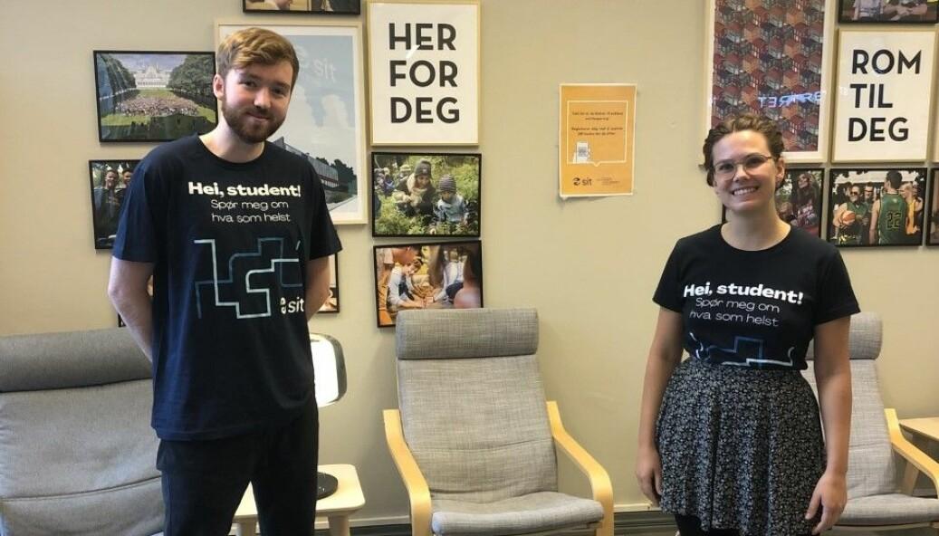 TILBUD: Eva Malene Stirø og Arthur Svidal Llewelyn er studentverter hos Studentsenteret