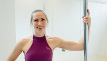 MESTRING: Svartøien forteller at mestringsfølelsen er viktig for motivasjonen i poledance