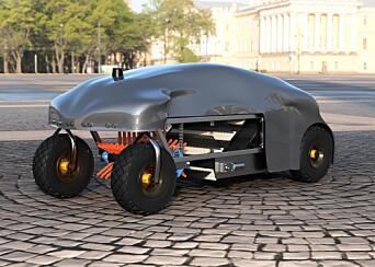 AUTONOM SØPPELROBOT: Teamet bak Cleaner Green vil revolusjonere søppelhåndtering med en selvkjørende robot.