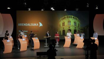 <strong>VIKTIG FOR UNGDOMMEN:</strong> Diskusjonen om klima ble en av de mest opphetede under Ungdomspartilederdebatten på Arendalsuka.