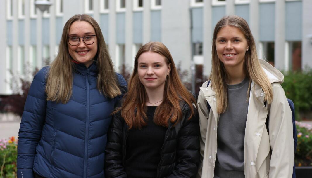 NORMALT: Veronica, Synne og Ingrid gleder seg til å gå tilbake til et normalt liv