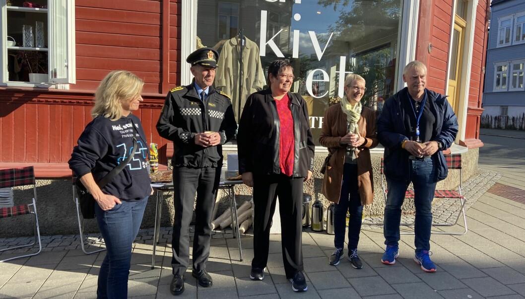 Fv.: Audhild Kvam, Arve Nordtvedt, Rita Ottervik, Anne Borg, Morten Wolden.